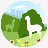Logo for Holly Hagg a not-for-profit community farm in Sheffield. Alpaca trekking, organic food growing, community access to greenspace, wildlife and sustainable education.